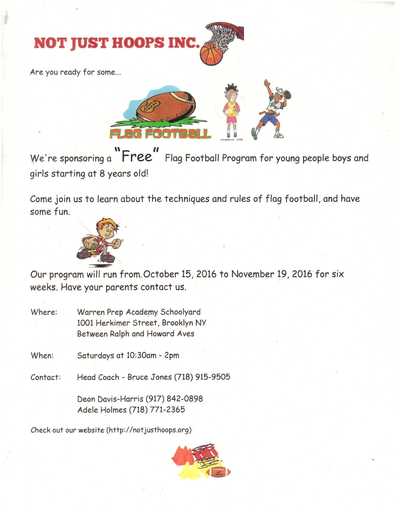 2016 Flag Football Flyer